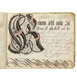 Abécédaire manuscrit en...