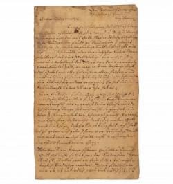 Lettre manuscrite de Johann...