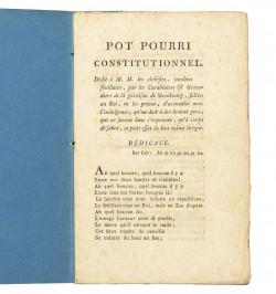 Pot Pourri constitutionnel.
