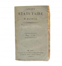 Ancien statutaire d'Alsace,...