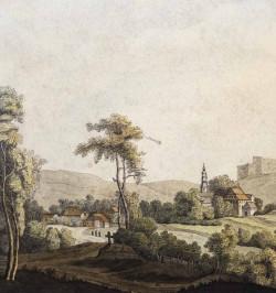 Paysage d'Alsace du Nord.