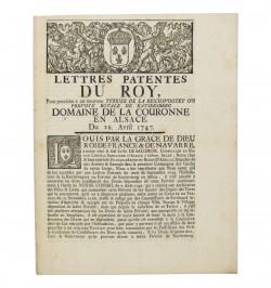 Lettres patentes du Roy,...
